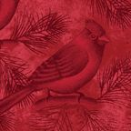 Benartex Wintersong Bird Cardinal Fabric Red Holiday Christmas