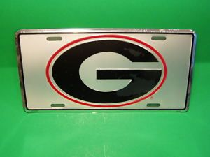 GEORGIA BULLDOGS Aluminum License Plate, Car Tag (NEW)