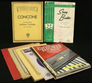 Vintage Piano Manuals And Sheet Music + Guitar And Electronic Keyboard