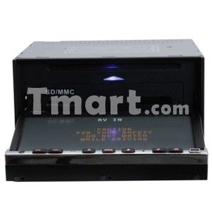 7707 7 Dual DIN Touch Screen Bluetooth Car DVD Player