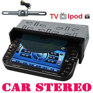 Din In Car CD DVD Player LCD Touch Screen Auto Video TV Stereo Radio
