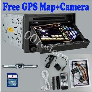 HD JPEG Pip 2 DIN 7 Car Stereo DVD Player GPS Dual Zone Radio iPod BT