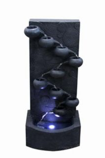 Pots Cascade Indoor Outdoor Water Fountain with LED