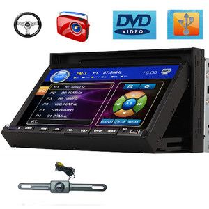 in Dash Touch Screen Car Stereo DVD Player Radio IR Camera