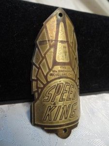Old Speed King Wm Bingham Cleveland Ohio Bicycle Badge