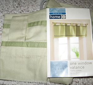 Target Casual Home Tab Top Valance Curtain Henley Green