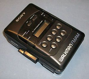 Sony Portable Personal CASSETTE TAPE PLAYER AM FM Radio WALKMAN Black