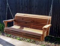 CEDAR PORCH SWING TREE CONTOURED SEAT 6 FT HEAVY DUTY CHAIN & SPRINGS