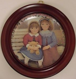 Sisters Are Blossoms Framed Collectible Plate by Chantal Poulin