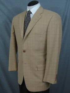 ZANELLA Italy Three Button Check Sport Coat 41R