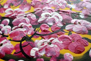 Large Feng Shui Cherry Blossom Original Modern Abstract Art Canvas Oil