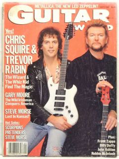 Guitar World Magazine Chris Squire Revor Rabin Gary Moore Steve Morse