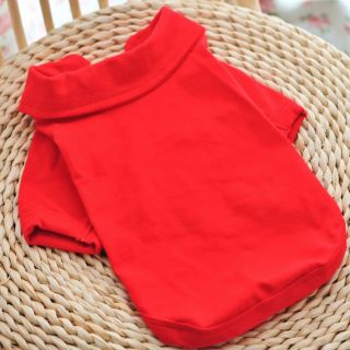 New Fashion Pet Cat Dog Clothes T Polo Shirt Vest Puppy Red