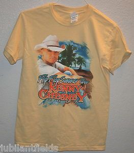 Shirt Kenny Chesney Flip Flop Tour 2007 Concert Size S Small Yellow