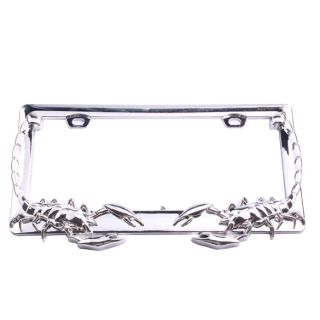 Scorpion Chrome Style Auto Car Plastic License Plate Frame