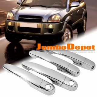 CHROME SIDE DOOR HANDLE COVERS TRIM TRIMS MOULDING FOR TUCSON 2005