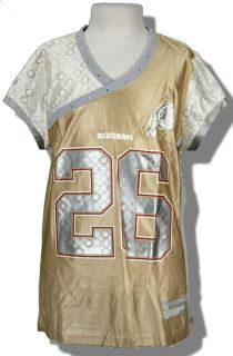 Redskins Clinton Portis NFL Womens Gold Jersey New Sz L