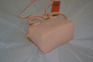 Robinson Saffiano Mini Shrunken Satchel Pink Cloud Gold Bag New