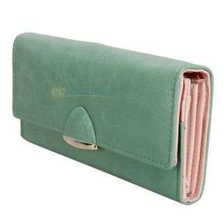 Wallet Purse Lady Long Clutch Handbag Card Coin ID Bag Green #683