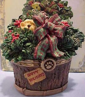 Boyd Nicholas Holiday Basket Treasure Box w Spruce LQQK