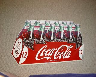 RARE 1950s Coca Cola 12 Pack Die Cut Tin Sign Coke