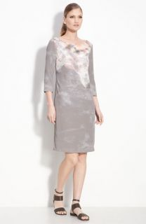 St. John Collection Jewel Neck Shift Dress