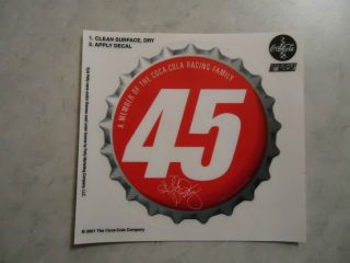 Coca Cola Racing Family Decal Sticker Kyle Petty 2001 NASCAR Number 45