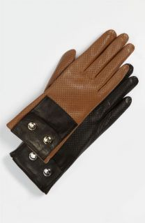 MICHAEL Michael Kors Perforated Leather Gloves
