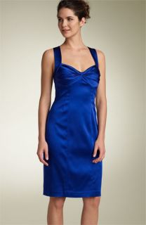 Calvin Klein Stretch Satin Sheath Dress