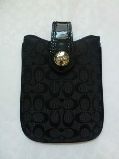 Coach Signature Black Electronic Cell Phone PDA Case