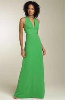 Nicole Miller Silk Gown with Crisscross Straps