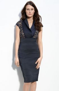 Tadashi Shoji Satin & Beaded Lace Sheath Dress
