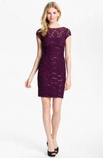 Hailey by Adrianna Papell Embellished Lace Sheath Dress
