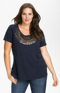 Lucky Brand Beaded Tee (Plus)