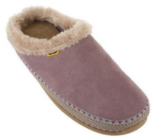 Deer Stags Microsuede Indoor/Outdoor Slipperooz with Faux Fur Trim