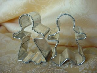 Metal Boy Girl GINGERBREAD cookie cutters CUTE For CHRISTMAS ORNAMENTS