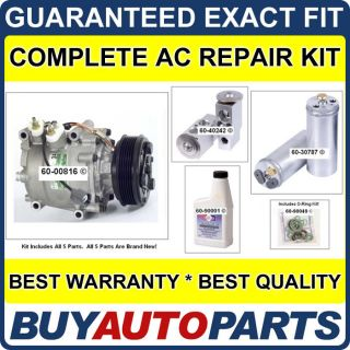 Honda Civic AC Repair Kit New Compressor 2001 2002