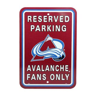 "Colorado Avalanche 12"" x 18"" Reserved Parking Sign   Burgundy"