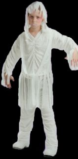Mummy Halloween Costume Kids Scary Outfit Child Large Size Free