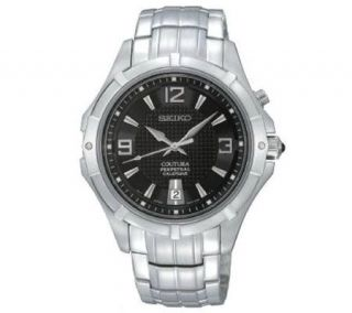 Seiko Mens Stainless Steel Coutura Watch withBlack Dial   J303951