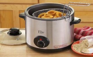 Deep Fryer Rice Slow Cooker Crock Pot w Roasting Rack Lid