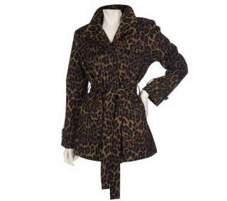 Linea by Louis DellOlio Stretch Cotton Leopard Print Jacket