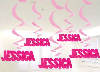 Create Your Own Personalised Name Decoration Girl Baby Birthday Party