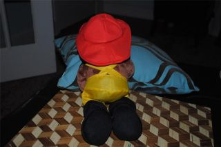 Curious George Fireman Fire Fighter Plush stuffed animal monkey in