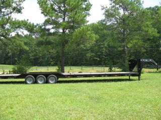 NEW 2013 38 DRIVE OVER 10 TON GOOSENECK 102 3 AXL CAR TRAILER