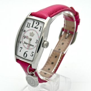 Auth Juicy Couture Twiggy Pink Patent Leather Ladies Charm Watch