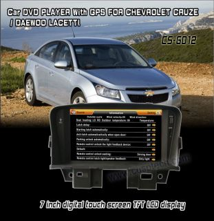 with DVD Player iPod Bluetooth Radio for Chevrolet Cruze Daewoo