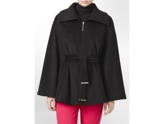 Calvin Klein Belted Zip Front Cape Womens
