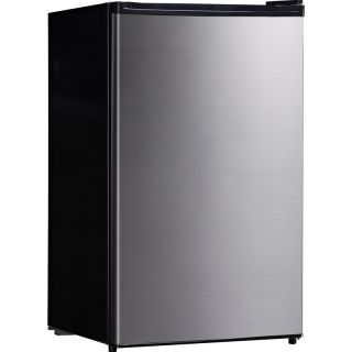 Cubic Foot Mini Fridge & Freezer w/ Reversible Stainless Steel Door