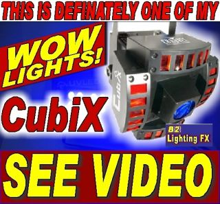 Chauvet CUBIX LED Dance Light mobile dj night clubs party lite TOTALLY